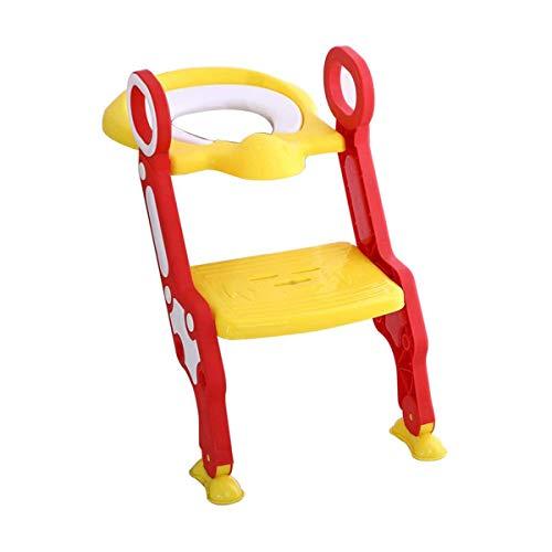 Cloudwalk Toilettensitz für Kinder Toilettentrainer Toilettenleiter WC mit Treppe (Gelb)