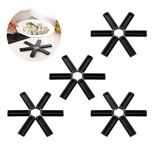 nobrand Juego de 4 agarraderas de cocina para posavasos, antideslizantes, resistentes al...