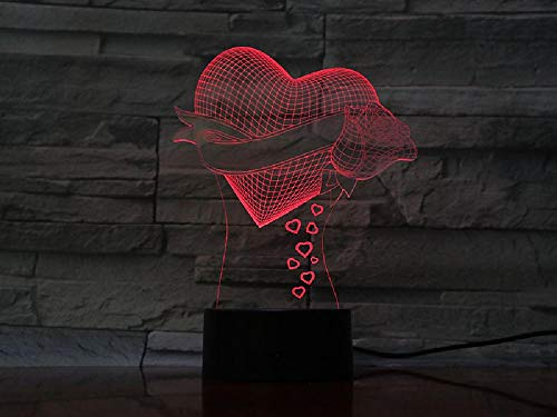 3D Acryl Love 4 Touch Control Home Decoration LED Night Light