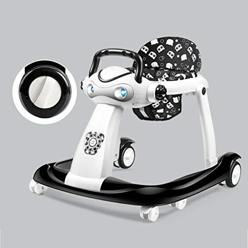 LFY Caminador para bebés, Negro, fácil de Plegar, Altura Ajustable del cojín Andador para bebés