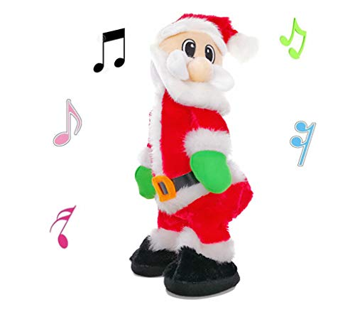 ALIMITOPIA Twerking Santa Electric Toy,Christmas Musical Doll Dancing and Singing Xmas Plush Wiggle Hip Santa Claus Electric Toy Funny Gift
