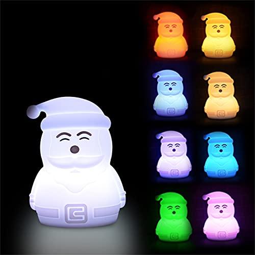 GOUER Luz nocturna LED para niños, multicolor, de silicona, cambia de color, para escritorio, lámpara creativa de protección ocular para estudiantes, para salón, dormitorio, cómoda