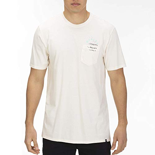 Hurley M Lords of Froth Pocket S/S Tee Shirts Homme, Pale Ivory, FR : S (Taille Fabricant : S)