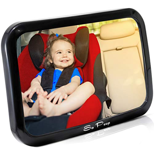 Baby Car Seat Mirror Shatter-Proof Rear View Mirror for Rear Facing Infant Safe