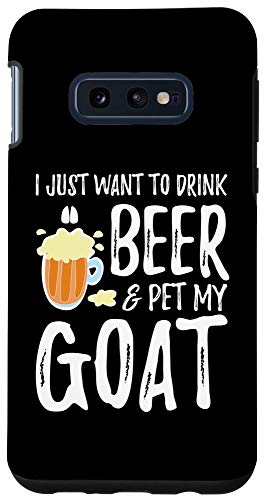 Galaxy S10e Goat Lover Beer Phone Case Funny Goat Mom Case