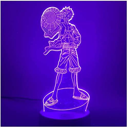 3D Led Nachtlicht Japanischer Anime One Piece Monkey Actionfigur für Kinder Schlafzimmer Dekor Kind Geburtstagsgeschenk Nachtlicht