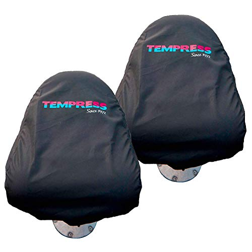 Tempress Water Resistant Protective Boat Seat Cover for Fishing Chair (Large - 2 Pack, Folding ProBax High Back Navistyle)