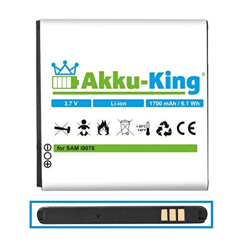Akku-King Akku kompatibel mit Samsung EB535151VU - Li-Ion 1700mAh - für Galaxy S Advance GT-i9070, i9070P