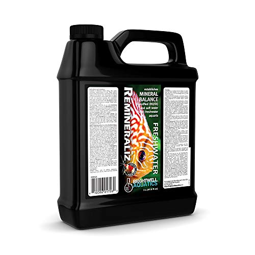 Brightwell Aquatics Remineraliz - Adds Minerals to Distilled, Deionized, or Reverse Osmosis Water for Freshwater Aquarium Use, 2-L