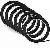 "Pyhot Whiteboard Pinstripe Tape, 1/8""Thin Whiteboard Tape, Black Gridding Tape Graphic Chart Art Tape forScrapbooks Line Charts Decor (6 Rolls, 216feet/66m)"