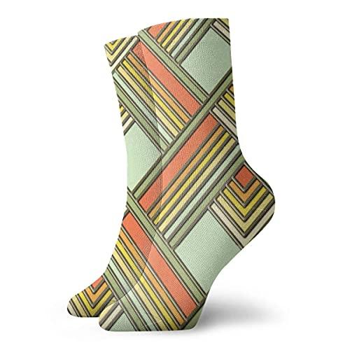 Caswyy Socks Calcetines Art Deco Sunshine calcetines de invierno dorados, cálidos, suaves, vintage, para mujeres y hombres largo 30 cm