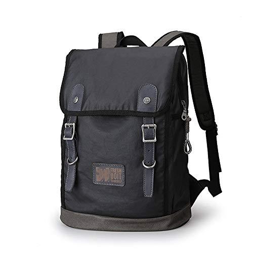 QinWenYan Mens Backpack Mens Canvas Backpack School Rucksack Casual Water Resistant Daypacks Backpack Hiking Travel Laptop College Bookbag For Daily Use for Work, School, Travel