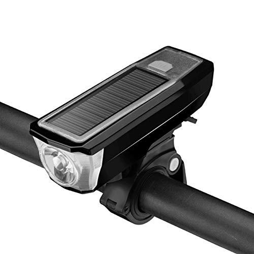 Luz trasera de bicicleta Antorcha Solar A Prueba De Agua Multifuncional Luz Recargable Antorcha De Ciclismo Cuerno De Ciclismo Bicicleta Luz De Bicicleta Faro De La Bicicleta Luz de noche de bicicleta