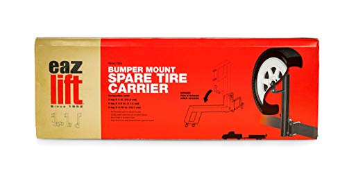 EAZ LIFT Spare Tire Carrier Bumper Mount - Easily Mounts to Your RV Bumper to Create an Exterior...