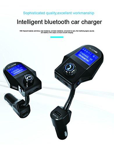TBS3262 Transmetteur FM Bluetooth V3.0 pour Voiture + Chargeur 3 USB 2,1A + Kit Main Libre - Ecran LED - Diffusion Musique vers autoradio Via : Bluetooth téléphone/Carte SD/Clé USB/Jack 3,5