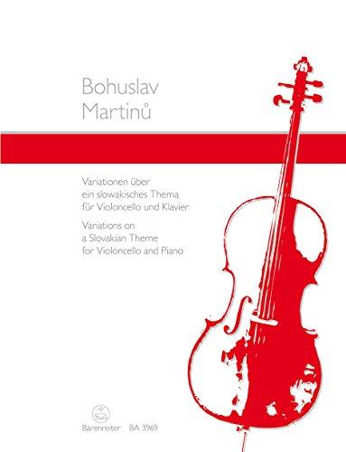 Variationen über ein Slowakisches Thema. Violoncello, Klavier