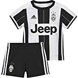 adidas Kinder Trainingsanzug Juventus Turin Mini-Heimausrüstung, White/Black, 68