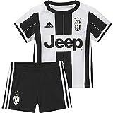 adidas Juve H Baby 1 Kit Juventus FC 2015/16, Tuta da Ginnastica Unisex Bambini, Bianco/Nero (Blanco/Negro), 74