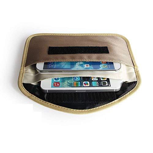 Mengshen Grande Bolsa De Faraday, Bolsa De Bloqueo De Señal WiFi/gsm/LTE/NFC/RF Adecuada para Teléfono Celular, Tarjetas De Crédito, Llave del Automóvil, Llavero De Entrada Sin Llave - Beige