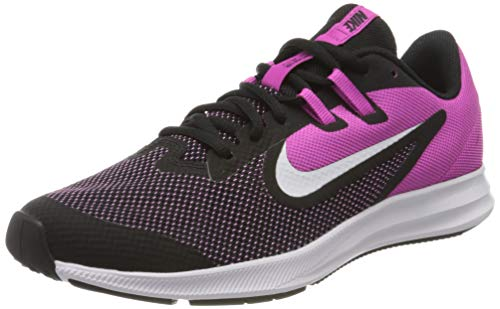 Nike Downshifter 9 (GS), Scarpe da Corsa, Black/White/Active Fuchsia, 40 EU