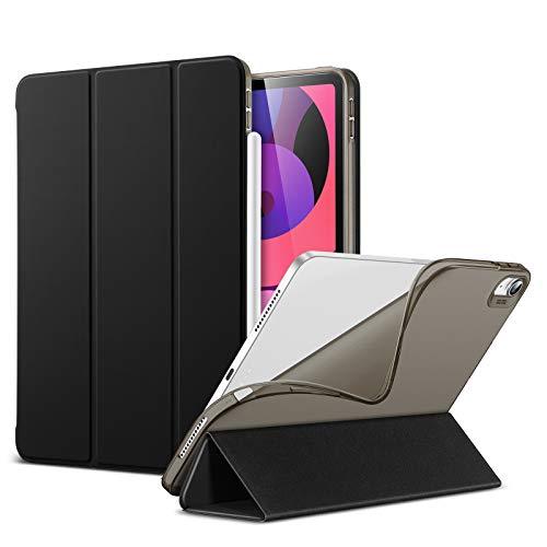 ESR Hülle Kompatibel mit iPad Air 4. Generation 2020, Dünne 10,9 Zoll Schutzhülle mit Stoßresistenter TPU Rückseite, Auto Ruhe/Wachfunktion, Matt Schwarz