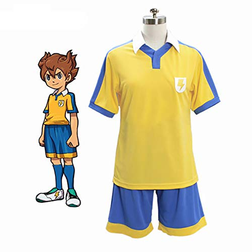 Anime Inazuma Eleven GO Songfeng Tianma Cosplay Disfraz Leimen Middle School Fiesta de Halloween Ropa Diaria Hombre Golden Football Jersey Ropa Deportiva Uniforme,M