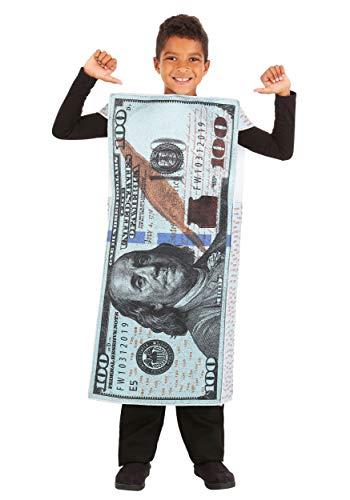 Kids 100 Dollar Bill Costume Standard