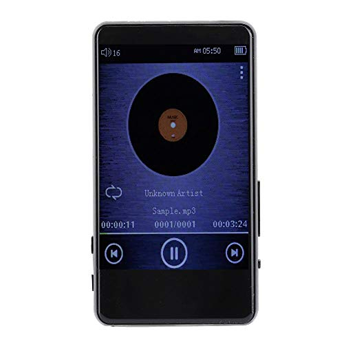 Draagbare muziekspeler, Bluetooth MP3 Metal-muziekspeler met 3,0 inch IPS-scherm, 8 GB TF-kaart digitale muziekspeler met ingebouwde luidspreker voor hardlopen/kantoor/zak
