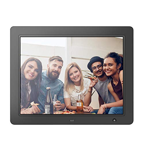 LOVCUBE 15 Inch USB Digital Picture Frame,1024x768 HD IPS Display, Auto-Rotate, Aspect Ratio 4:3,Motion Sensor, Remote Control - Mix Photos and Videos in The Same Slideshow