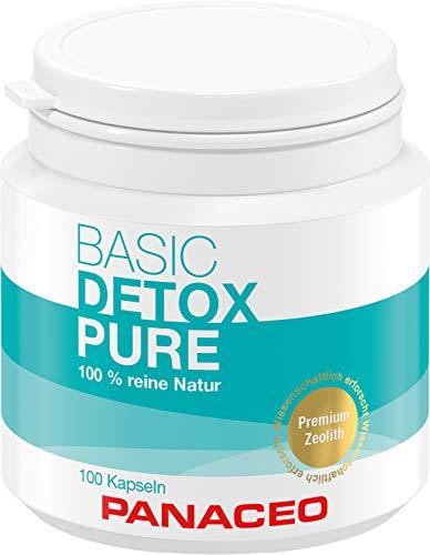Panaceo Basic Detox pure: Veganes Bio-Medizinprodukt aus 100% Zeolith, zur Entgiftung des Darms, Kapseln, 2-Wochen-Kur, 100 Stk.