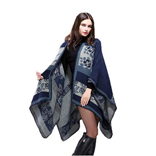 MHO sjaal jas dikke warme sjaal vrouwen winter omkeerbare oversized deken Poncho Cape sjaal vesten sjaal Cape Wrap