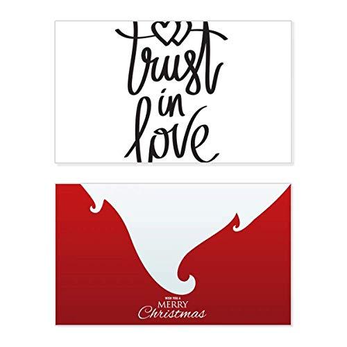 """Weihnachtskarte mit Zitat """"Trust in Love"""", Vintage-Nachricht"""