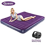 OlarHike Queen Air Mattress, Inflatable Single High Airbed for Guests, Blow up Raised Air Bed for...