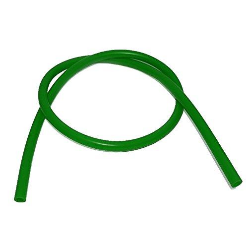 Caesar Silikonschlauch für Shishas (Matt-Grün) | Schlauch für Wasserpfeife | Flexibel | 1,50m Lang