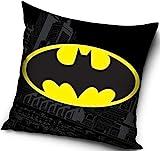 Funda de almohada para adultos y niños, cojín de poliéster para cama y sofá con logotipo profesional de Batman, licencia de cómic de 40 x 40 DC.