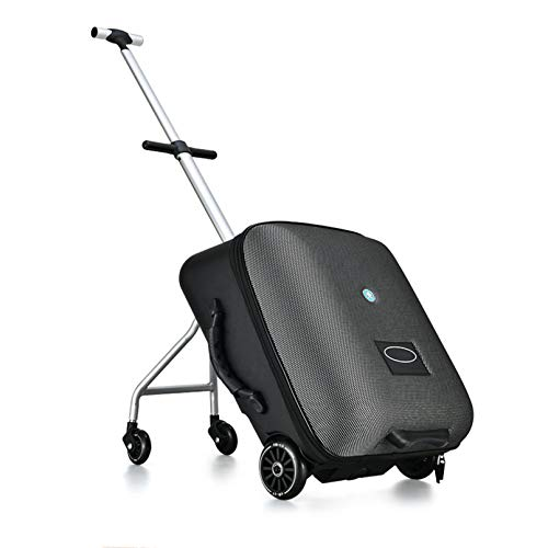 WN-PZF 20in Trolley suitcase, luggage suitcase, children can ride on the travel trolley suitcase can board the plane,Black