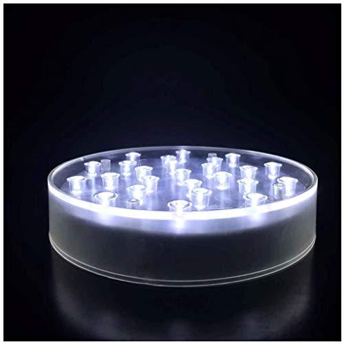 Preisvergleich Produktbild Ardux LED-Vasen-Leuchtsockel,  batteriebetriebener Standsockel,  für Zuhause,  Pflanzen,  Garten,  Party,  Dekoration,  plastik,  weiß,  6inch Round + USB