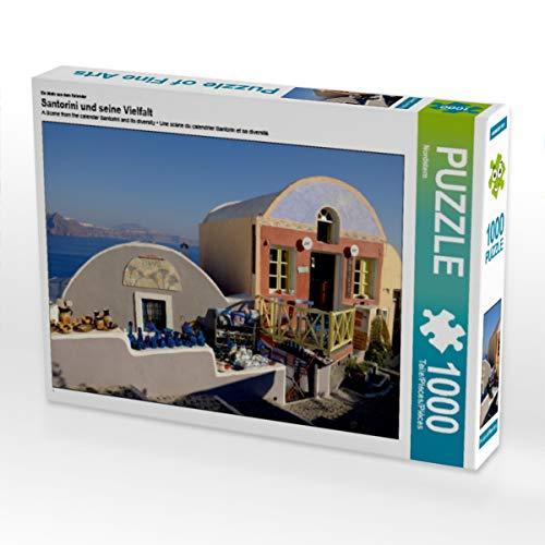 CALVENDO Puzzle Santorini und Seine Vielfalt 1000 Teile Lege-Größe 64 x 48 cm Foto-Puzzle Bild von Jürgen Schäpers