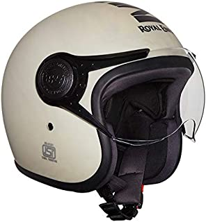 Royal Enfield Matt White Open Face with Visor Helmet Size (L)60 CM (RRGHEH000023)