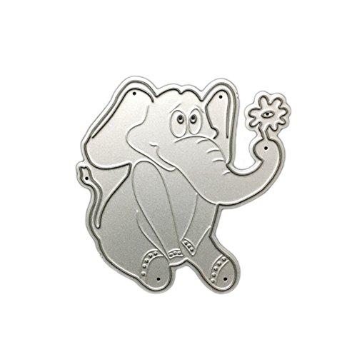 Metal Cute Animals Cutting Dies Cut Dies Stencil Template Mould for DIY Scrapbook Album Paper Card (Elephant 3)