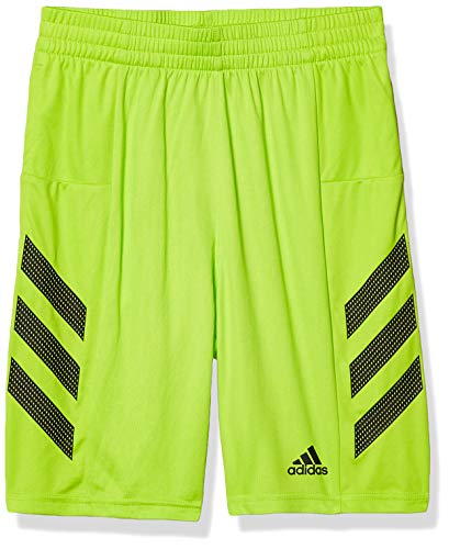 adidas Boys' Big Active Athletic Shorts, PRO Sport 3S Light Green, Large