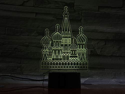 Der Kreml, Russland, berühmtes Gebäude, Moskau-Modell, Illusion, Farbwechsellampe, leuchtendes Spielzeug der Kinder
