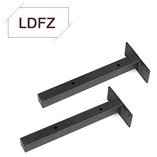 Plankbeugels LDFZ drijvend 6Inch - 14Inch, 2 PCS Heavy Duty planksteunen, verborgen beugels voor zwevende houten planken, ronde buizen/vierkante buizen (zwart)