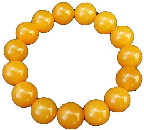 necklace Gelb Huanglong yu Runde Perlen-Armband Natur yu Stein Perlen Armband Schmuck Glücksstein for Stier, Zwillinge und Jungfrau Geschenk