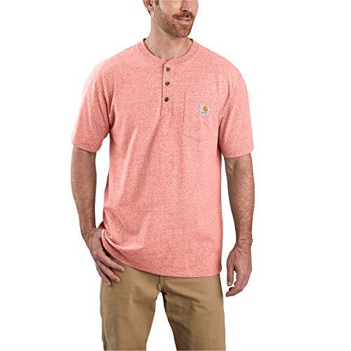 Carhartt Men's Workwear Pocket Henley Shirt, Harvest Orange Snow Heather, X-Large