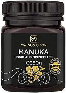 Watson & Son Miel de Manuka MGO 400+ 250g, Calidad Premium Certificada de Nueva Zelanda, Pura y natural