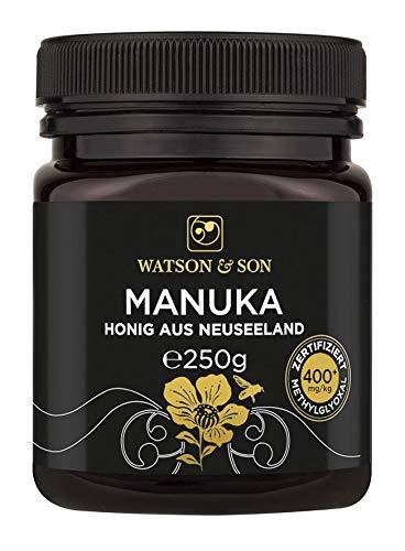 Watson & Son Manuka Honig MGO 400+ 250g, Zertifizierte Premium Qualität aus Neuseeland