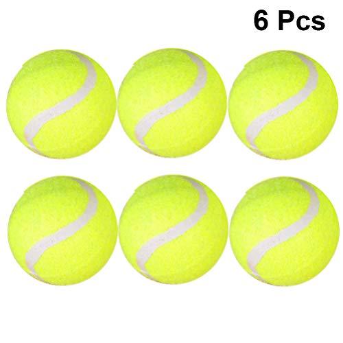 BESPORTBLE 6Pcs Pelotas de Tenis Accesorio de Tenis de Alta Elasticidad Pelotas de Práctica de Tenis Estándar para Entrenamiento Físico