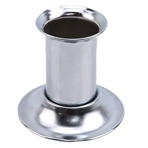 HJGKF Moxa-Stick-Feuerlöscher aus Edelstahl Moxibustion Roll Ash Collector Tray Dish Stabile Basis für Home Office Desktop,Silber 3CM