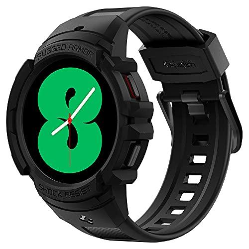Spigen Rugged Armor Pro compatível com Galaxy Watch 4 Pulseira com Capa Protetora 44mm - Preto